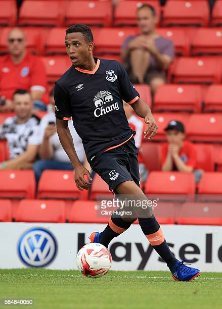 Brendan Galloway of Everton during the preseason friendly match between Barnsley and Everton at Oakwell Stadium on July 23 2016 in Barnsley England 'n