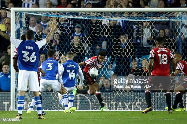 Brendan Galloway of Sunderland clears off the line during the Sky Bet Championship match between Sheffield Wednesday and Sunderland at Hillsborough...