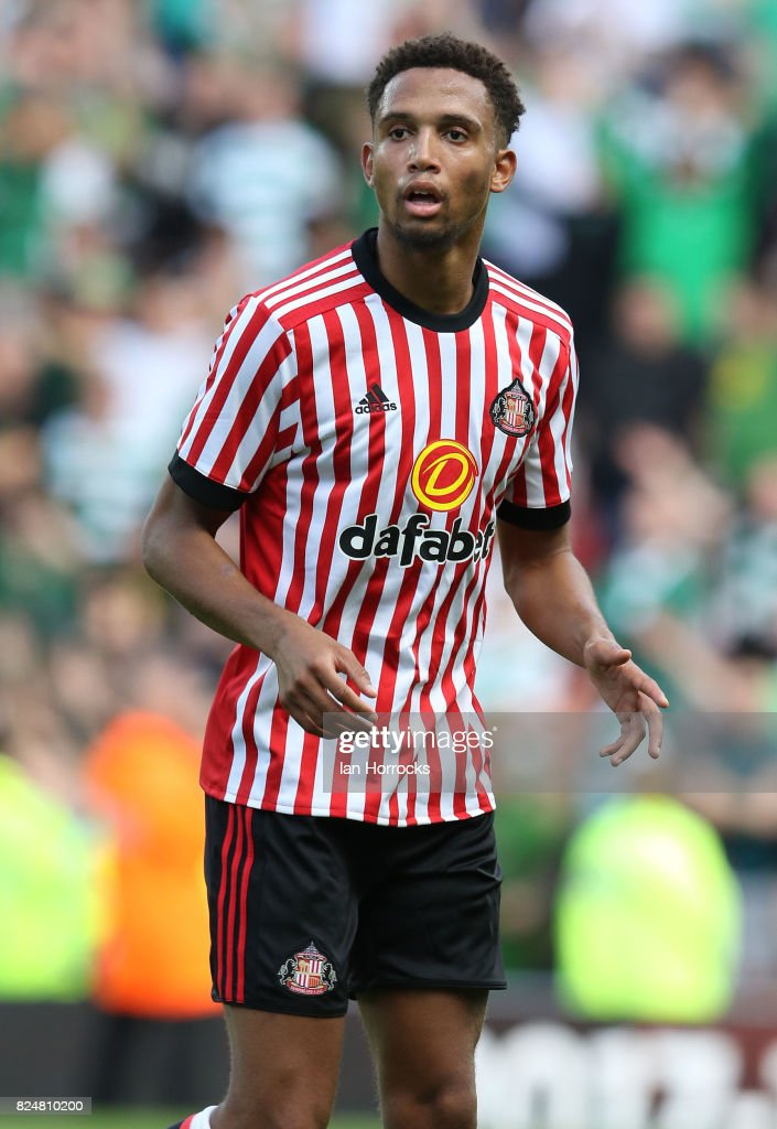 Brendan Galloway of Sunderland during a pre-season friendly match between Sunderland AFC and Celtic at the Stadium of Light on July 29, 2017 in Sunderland, England.