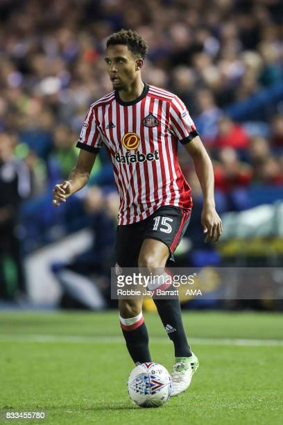 Brendan Galloway of Sunderland during the Sky Bet Championship match between Sheffield Wednesday and Sunderland at Hillsborough on August 16 2017 in...