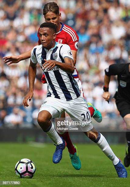 Brendan Galloway of West Bromwich Albion during the Premier League match between West Bromwich Albion and Middlesbrough at The Hawthorns on August 28...