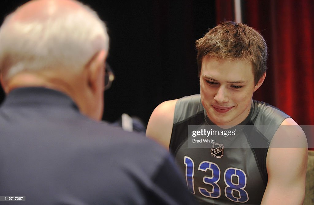 Brendan Gaunce #138 takes part in the 2012 NHL Combine June 1, 2012 at International Centre in Toronto, Ontario, Canada.