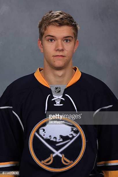 Brendan Guhle of the Buffalo Sabres poses for his official headshot of the 20162017 season on September 22 2016 at the KeyBank Center in Buffalo New...