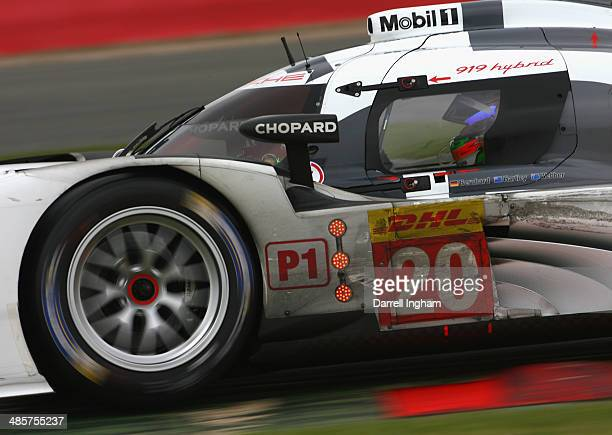 Brendan Hartley of New Zealand drives the Porsche Team Porsche 919 Hybrid LMP1 during the FIA World Endurance Championship 6 Hours of Silverstone...