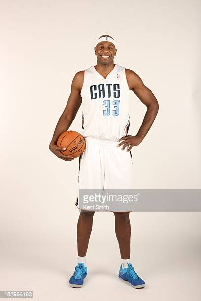 Brendan Haywood of the Charlotte Bobcats poses for a portrait on media day at the Time Warner Cable Arena on September 30 2013 in Charlotte North...