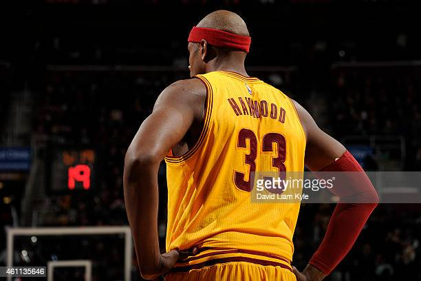 Brendan Haywood of the Cleveland Cavaliers during the game against the Milwaukee Bucks on December 31 2014 at The Quicken Loans Arena in Cleveland...