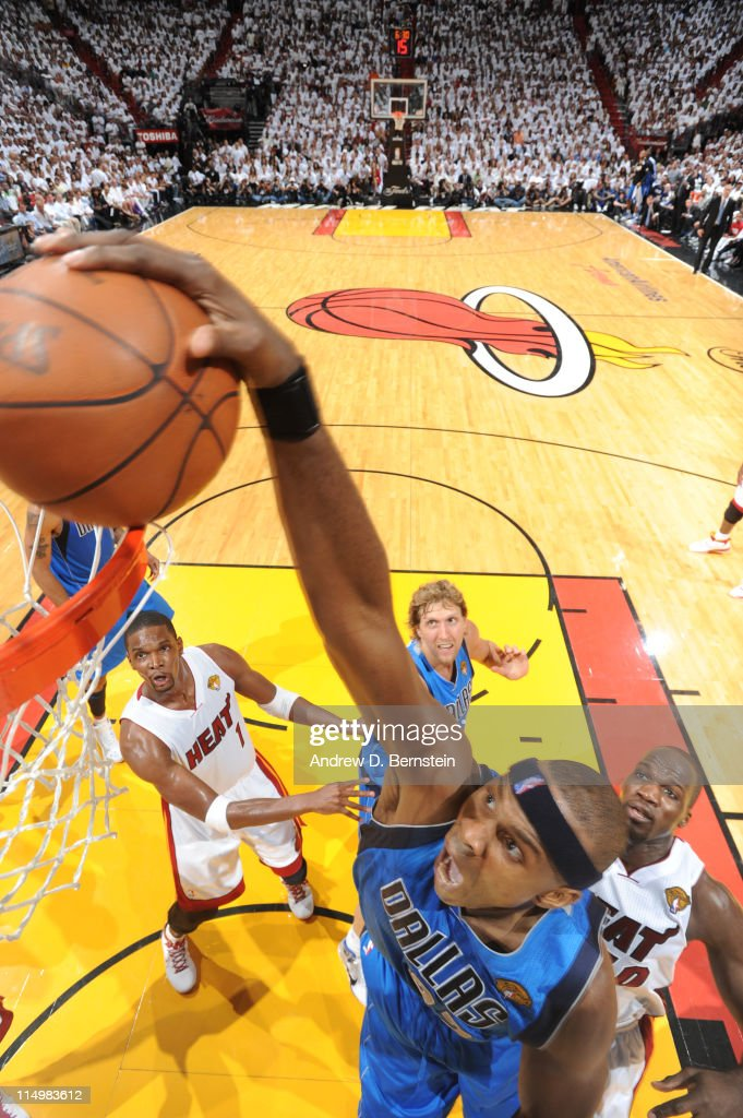 Brendan Haywood #33 of the Dallas Mavericks dunks against the Miami Heat during Game One of the 2011 NBA Finals on May 31, 2011 at the American Airlines Arena in Miami, Florida.