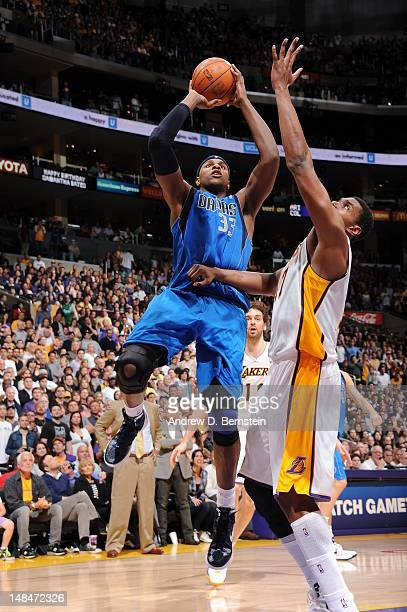 Brendan Haywood of the Dallas Mavericks shoots the ball against the Los Angeles Lakers on April 15 2012 in Los Angeles California NOTE TO USER User...