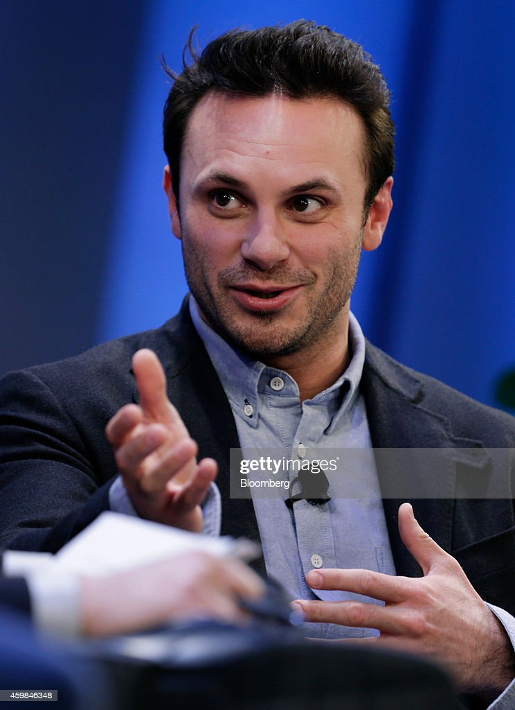 Brendan Iribe, co-founder and chief executive officer of Oculus VR Inc., speaks at the Ignition: Future Of Digital conference in New York, U.S., on Tuesday, Dec. 2, 2014. Speakers will discuss the future of media as it intersects with technology to change how we work and live. Photographer: Peter Foley/Bloomberg via Getty Images