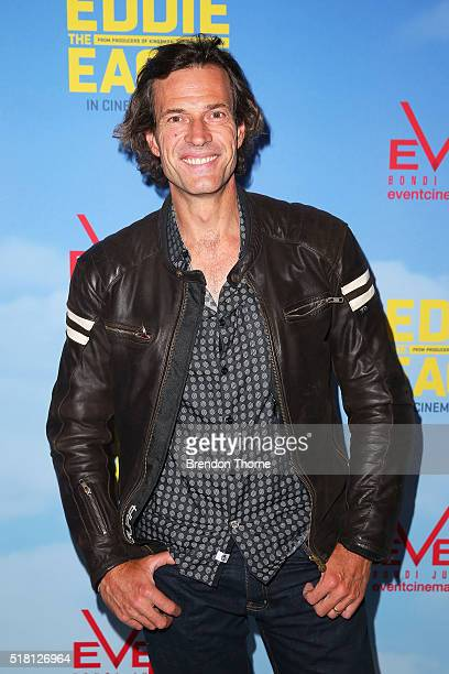 Brendan Jones arrives ahead of the Eddie The Eagle screening at Event Cinemas Bondi Junction on March 30 2016 in Sydney Australia