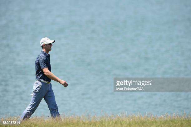 Brendan Jones of Australia walks the 18th fairway during the final round of Mizuno Open at JFE Setonaikai Golf Club on May 28 2017 in Okayama Japan