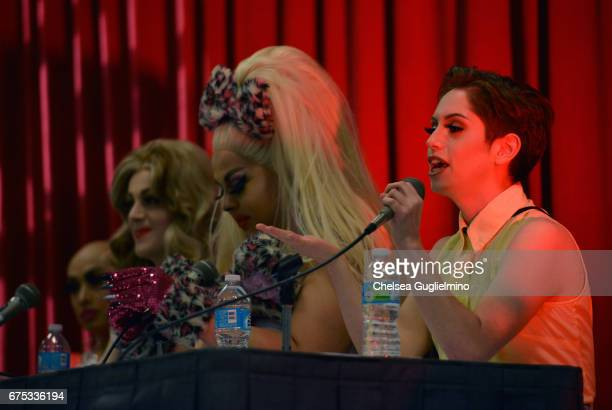 Brendan Jordan attends the 3rd Annual RuPaul's DragCon day 2 at Los Angeles Convention Center on April 30 2017 in Los Angeles California