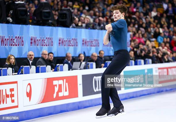 Brendan Kerry of Australia competes during Day 5 of the ISU World Figure Skating Championships 2016 at TD Garden on April 1 2016 in Boston...