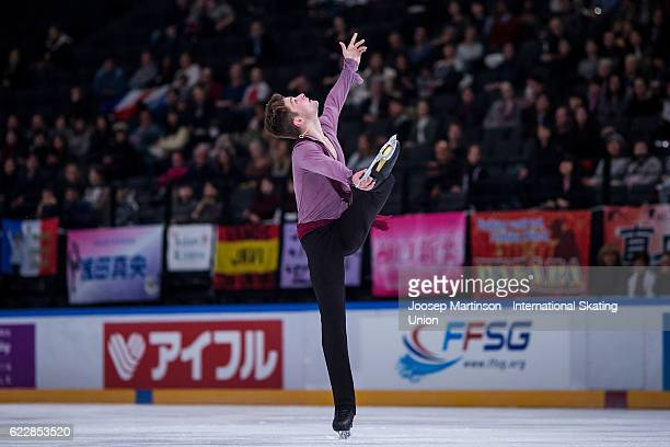 Brendan Kerry of Australia competes during Men's Free Skating on day two of the Trophee de France ISU Grand Prix of Figure Skating at Accorhotels...