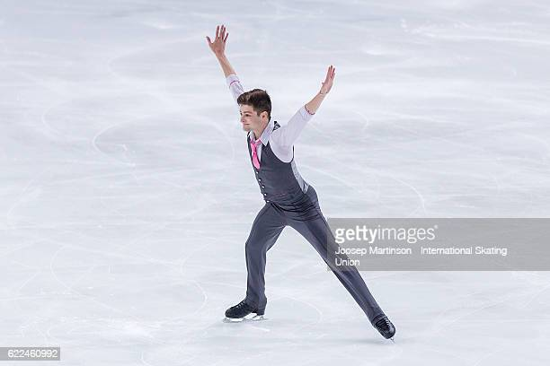 Brendan Kerry of Australia competes during Men's Short Program on day one of the Trophee de France ISU Grand Prix of Figure Skating at Accorhotels...