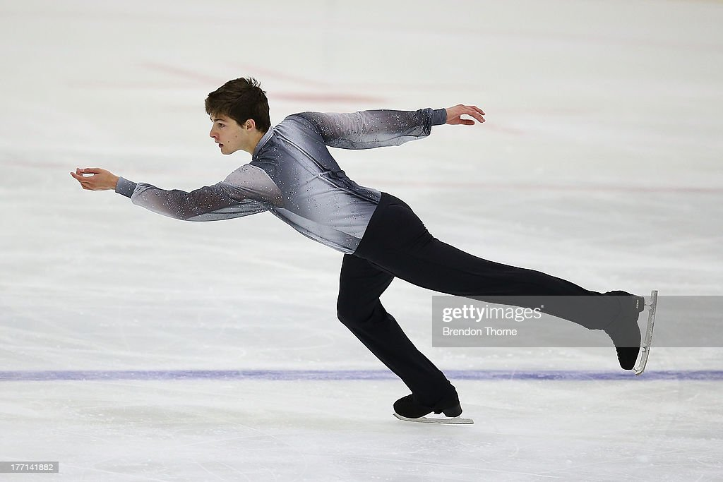 Brendan Kerry of Australia competes in the Senior Mens Short Program during Skate Down Under at Canterbury Olympic Ice Rink on August 21, 2013 in Sydney, Australia.