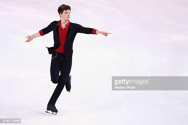 Brendan Kerry of Australia skates in the Men's Short program during day 3 of the ISU World Figure Skating Championships 2016 at TD Garden on March 30...