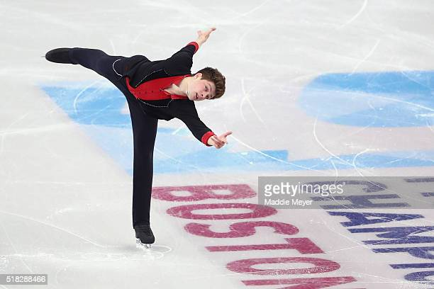 Brendan Kerry of Australia skates in the Men's Short program during day 3 of the ISU World Figure Skating Championships 2016 at TD Garden on March 30...