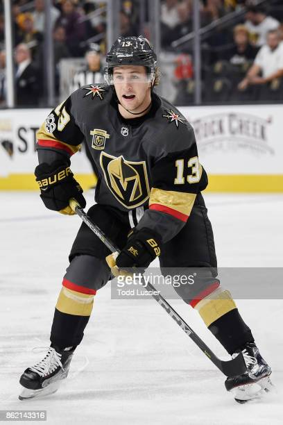 Brendan Leipsic of the Vegas Golden Knights skates against the Boston Bruins during the game at TMobile Arena on October 15 2017 in Las Vegas Nevada