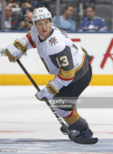 Brendan Leipsic of the Vegas Golden Knights skates against the Toronto Maple Leafs during an NHL game at the Air Canada Centre on November 6 2017 in...
