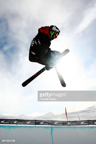 Brendan MacKay of Canada comeptes during the Winter Games NZ FIS Freestyle Skiing World Cup Halfpipe Finals at Cardrona Alpine Resort on September 1...