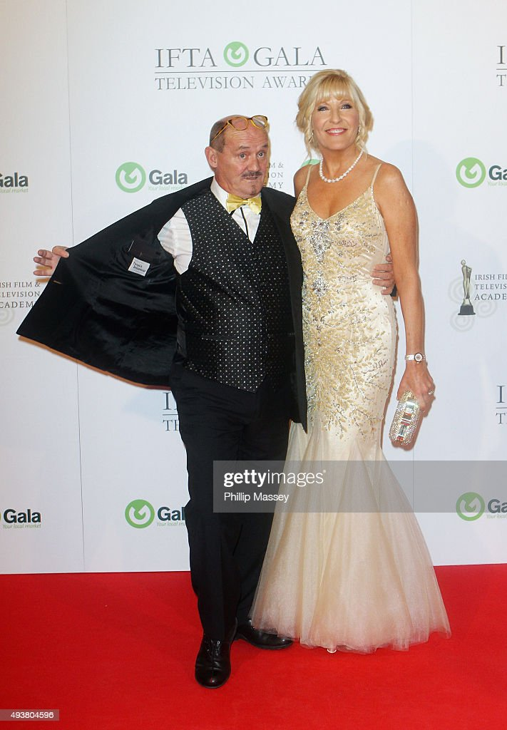 Brendan O'Carroll and Jennifer Gibney attend the IFTA Gala Television Awards on October 22, 2015 in Dublin, Ireland.
