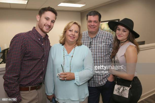 Brendan Pelletier Melody Orrantia Dan Orrantia and Hayley Orrantia attend APA Nashville's open house at One Nashville Place on June 6 2017 in...