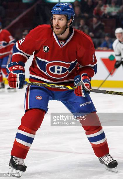 Brendan Prust of the Montreal Canadiens plays in the game against the Los Angeles Kings at the Bell Centre on December 12 2014 in Montreal Quebec...