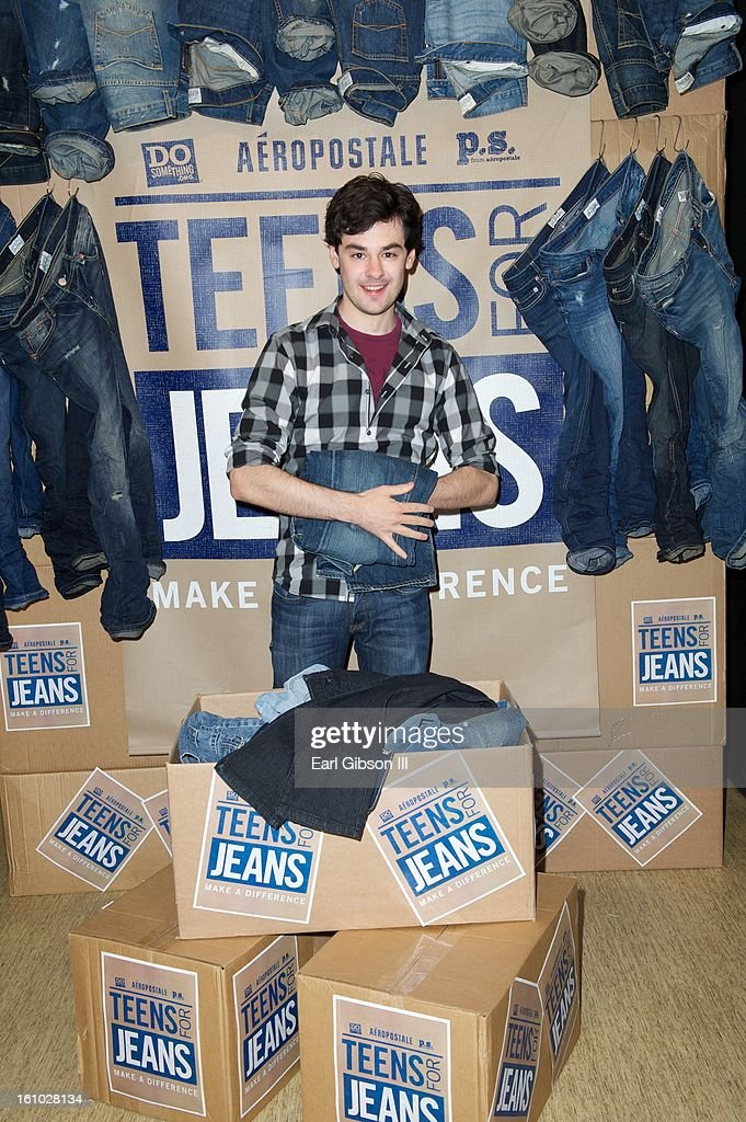 Brendan Robinson lends a hand of support to the DoSomething.org And Aeropostale's '6th Annual Teens For Jeans' Campaign at Westside Pavilion on February 8, 2013 in Los Angeles, California.