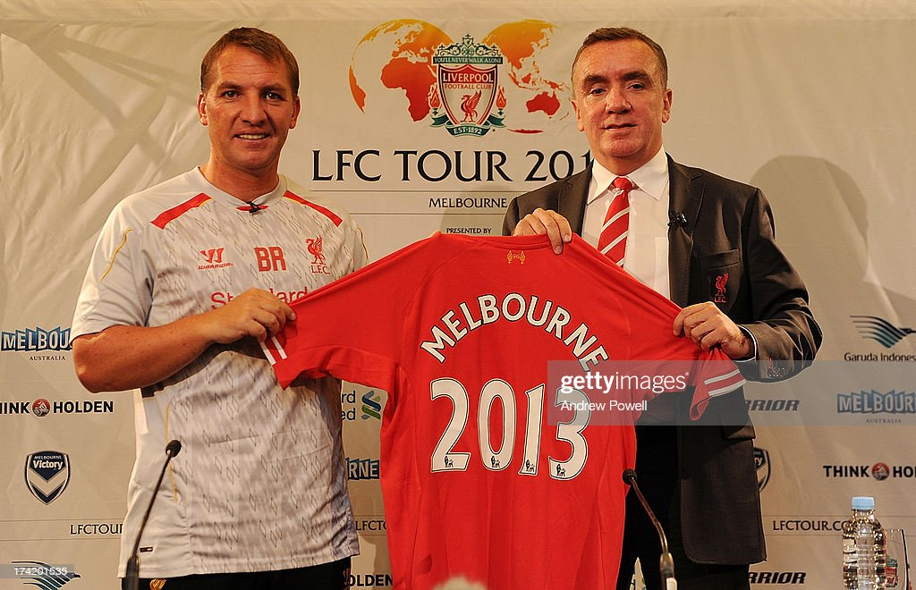 Brendan Rodgers manager of Liverpool and Ian Ayre managing director during a Press Conference at the Grand Hyatt hotel on July 22, 2013 in Melbourne, Australia.