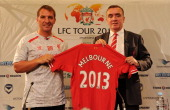Brendan Rodgers manager of Liverpool and Ian Ayre managing director during a Press Conference at the Grand Hyatt hotel on July 22 2013 in Melbourne...