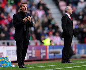 Brendan Rodgers manager of Liverpool during the Barclays Premier League match between Sunderland and Liverpool at Stadium of Light on September 29...