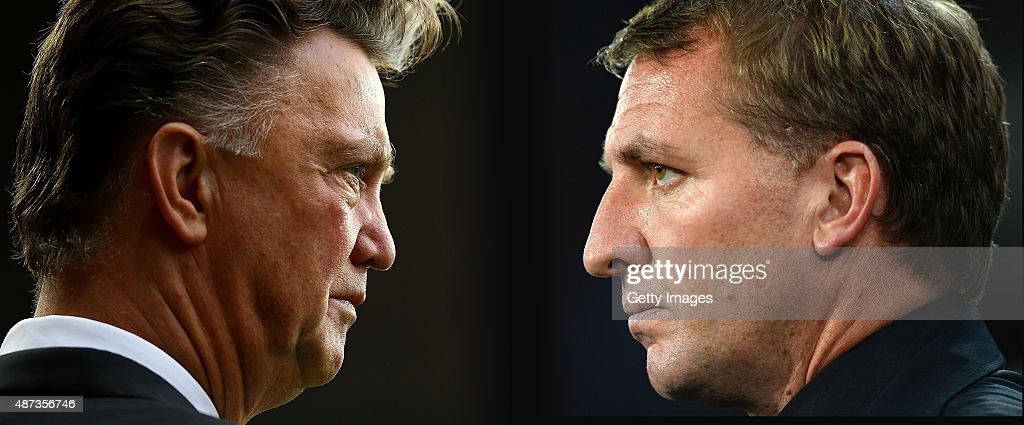 FILE PHOTO Image Numbers 458624190 and 456472318 In this composite image a comparison has been made between Louis van GaalManager of Manchester...