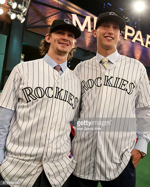 Brendan Rodgers Shortstop from Lake Mary High School in Florida chosen by the Colorado Rockies with the Third Pick of Round 1 of the Major League...