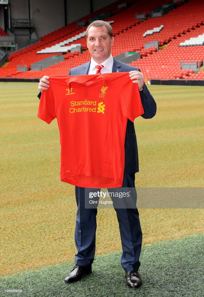 Brendan Rogers is unveiled as the new Liverpool FC manager at a press conference at Anfield on June 01, 2012 in Liverpool, England.