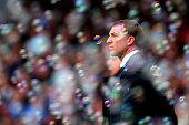 Brendan Rogers the Liverpool manager looks on during the Barclays Premier League match between West Ham United and Liverpool at Boleyn Ground on...