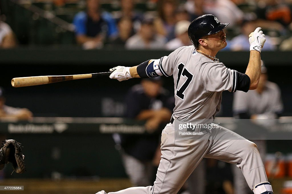 Brendan Ryan of the New York Yankees bats against the Baltimore Orioles at Oriole Park at Camden Yards on June 12 2015 in Baltimore Maryland The...