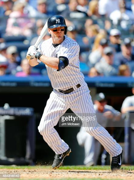 Brendan Ryan of the New York Yankees in action against the Chicago White Sox at Yankee Stadium on August 24 2014 in the Bronx borough of New York...