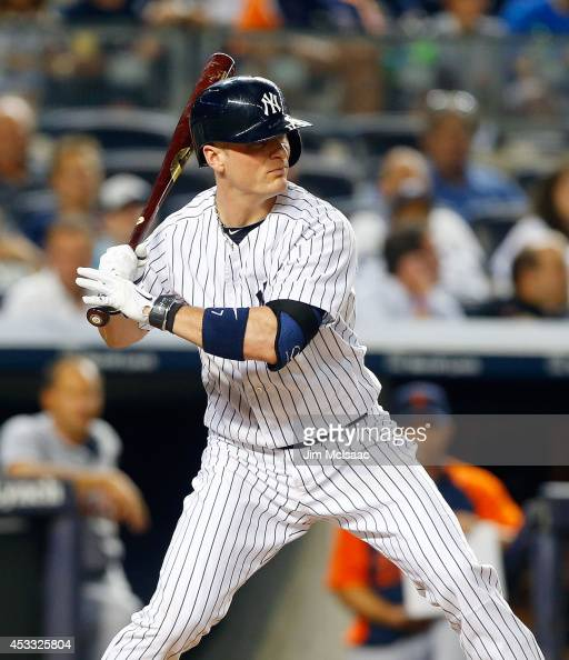 Brendan Ryan of the New York Yankees in action against the Detroit Tigers at Yankee Stadium on August 5 2014 in the Bronx borough of New York City...