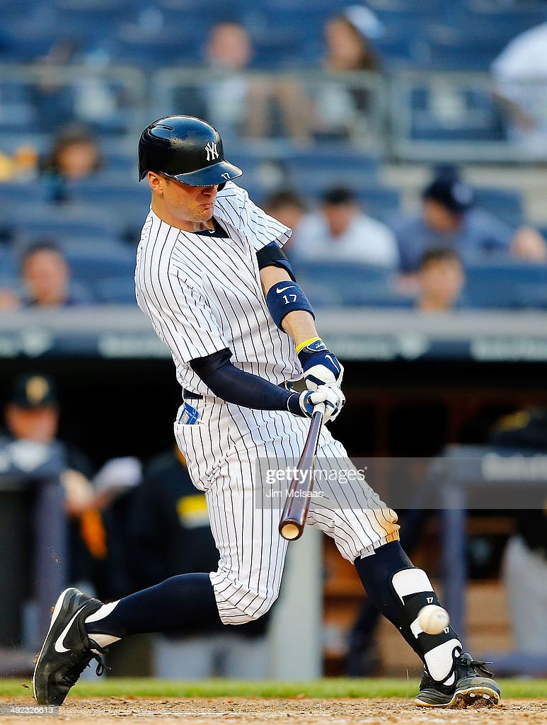 Brendan Ryan of the New York Yankees in action against the Pittsburgh Pirates at Yankee Stadium on May 18 2014 in the Bronx borough of New York City...