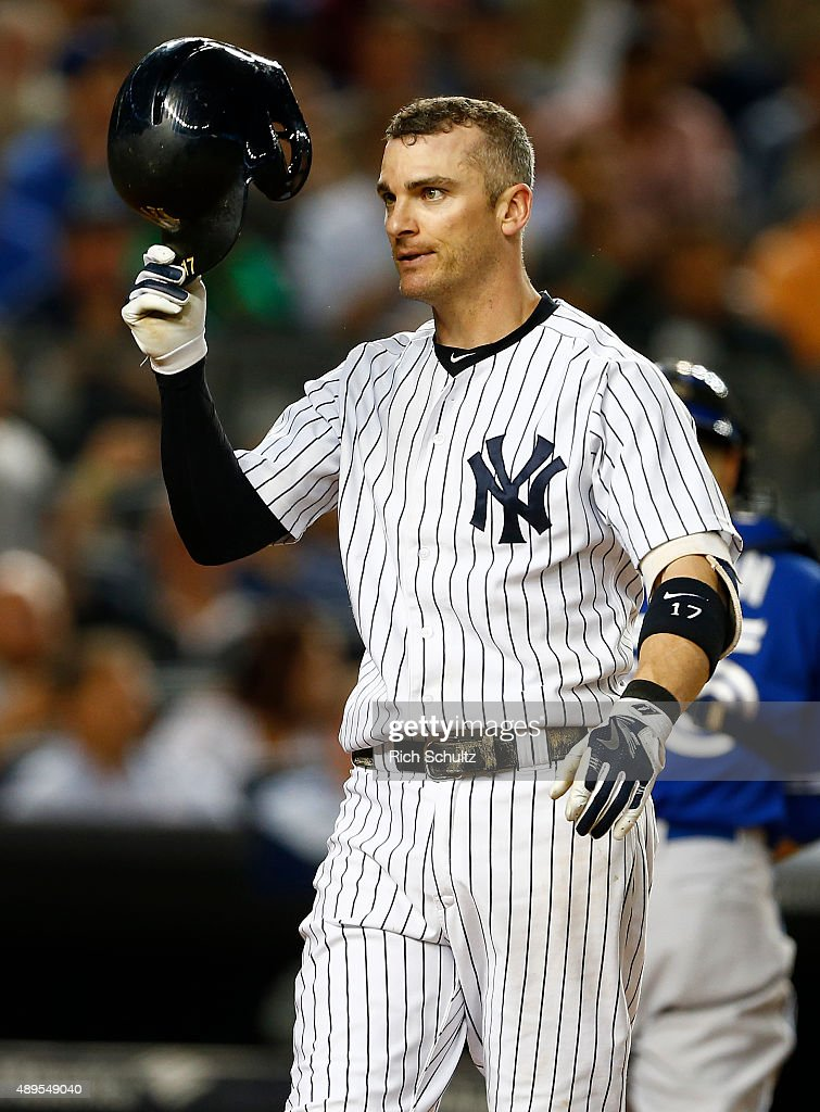 Brendan Ryan of the New York Yankees in action against the Toronto Blue Jays during a MLB baseball game at Yankee Stadium on September 11 2015 in the...