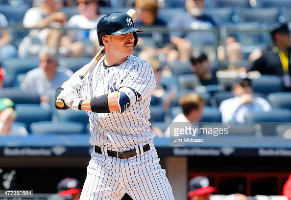 Brendan Ryan of the New York Yankees in action against the Washington Nationals at Yankee Stadium on June 10 2015 in the Bronx borough of New York...