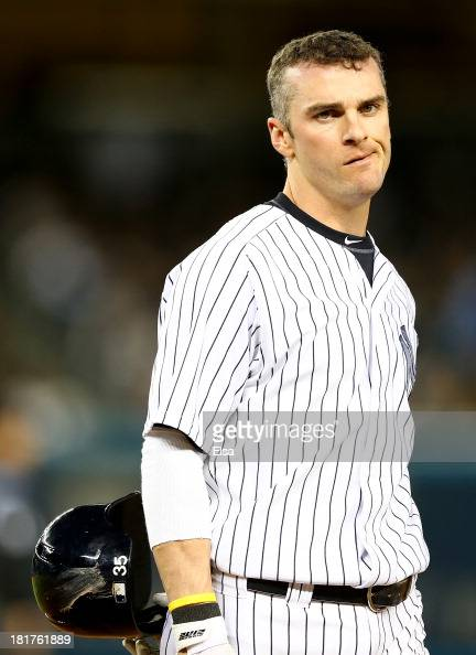 Brendan Ryan of the New York Yankees reacts after he is out at first to end the inning against the New York Yankees on September 24 2013 at Yankee...