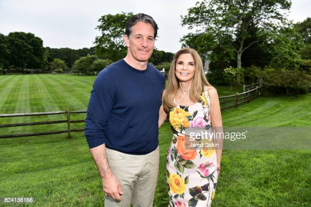 Brendan Shanahan and Robin Meltzer attend the Alzheimer's Association Hosts Rita Hayworth Gala Hamptons Kickoff Event at a Private Residence on July...