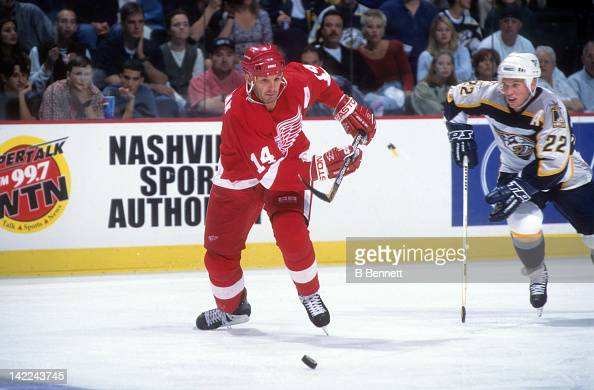 ... 14 Brendan Shanahan Red Jersey New York Islanders v New Jersey Devils  Detroit Red Wings v Nashville Predators Pictures Getty Imag ... 80254fae5