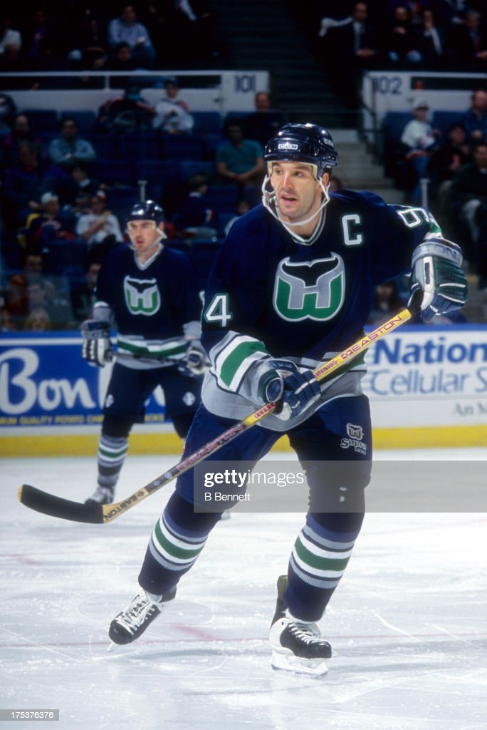 467d2a4ea ... Brendan Shanahan 94 of the Hartford Whalers skates on the ice during an  NHL game ...