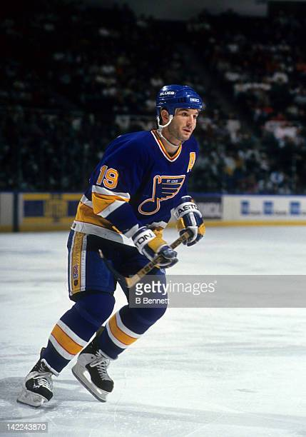 Brendan Shanahan of the St Louis Blues skates on the ice during an NHL game circa 1994