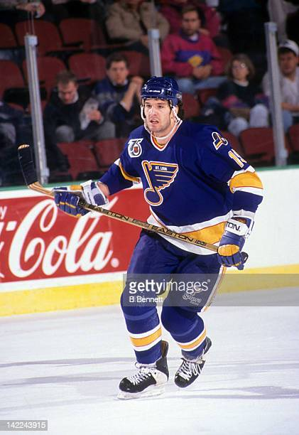 Brendan Shanahan of the St Louis Blues skates on the ice during an NHL game circa 1991