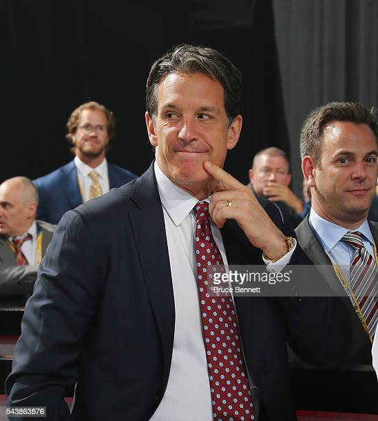 Brendan Shanahan of the Toronto Maple Leafs attends the 2016 NHL Draft on June 25 2016 in Buffalo New York