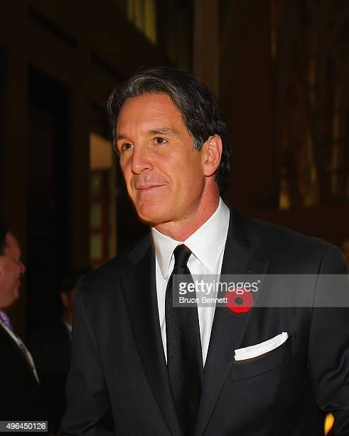 Brendan Shanahan walks the red carpet prior to the 2015 Hockey Hall of Fame Induction Ceremony at Brookfield Place on November 9 2015 in Toronto...